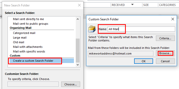Using email Search Folders in Outlook | LegalTree ca